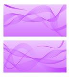 Violette achtergrond met abstracte lijnen Vector illustratie Royalty-vrije Stock Fotografie