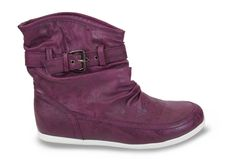 Violette  autumnal womanish boots Royalty Free Stock Image