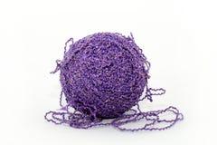 Violette bal van draden Stock Afbeelding