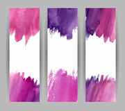 Violette banners stock illustratie