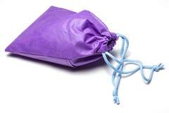 Violette Baumwolltasche Stockbilder