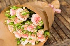 Violette bloeiende rozen Stock Afbeeldingen