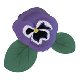 Violette bloem vectorillustratie Royalty-vrije Stock Foto's