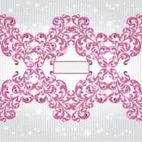 Violette bloemen roze glanzende achtergrond Royalty-vrije Stock Foto