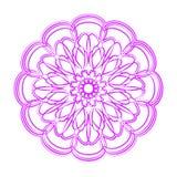 Violette Blumenmandala Dekorative Verzierung der Weinlese Stockbild