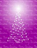 Violette d'arbre de Noël illustration stock