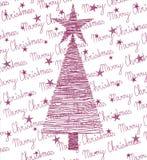 Violette d'arbre de Noël illustration libre de droits