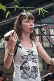 Violette Deadwood singing at the street scene festival Stock Photo