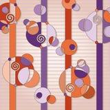 Violette en oranje abstracte achtergrond Stock Afbeeldingen
