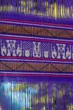 Violette Flaggenbeschaffenheit von Thailand Stockbild