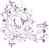 violette florale de configuration illustration stock