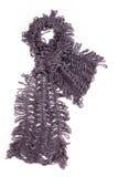 Violette gebreide sjaal Royalty-vrije Stock Foto's