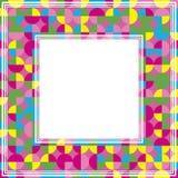 Violette gele abstracte grens Royalty-vrije Stock Foto's