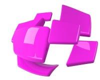 Violette getrennte Vierecke stock abbildung