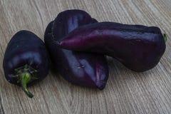 Violette groene paprika's Royalty-vrije Stock Afbeelding