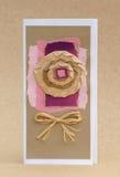 Violette groetkaart Royalty-vrije Stock Foto's