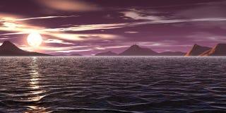 Violette hemel Royalty-vrije Stock Afbeeldingen