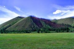 Violette heuvel Royalty-vrije Stock Afbeelding
