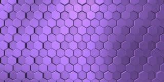 Violette kleur in decoratieve oppervlakte met heldere zeshoeken royalty-vrije illustratie