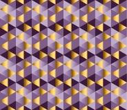 Violette kleur en de gouden vectorachtergrond van de metaaltextuur Stock Fotografie