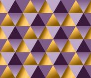 Violette kleur en de gouden vectorachtergrond van de metaaltextuur Stock Foto