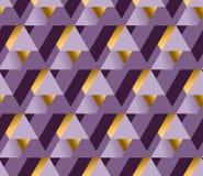 Violette kleur en de gouden vectorachtergrond van de metaaltextuur Royalty-vrije Stock Foto