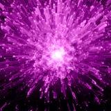 Violette Kristallexplosion Lizenzfreie Stockbilder