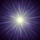 Violette Leuchte Lizenzfreies Stockbild