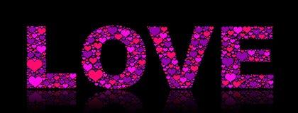 Violette liefde stock fotografie