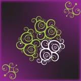 Violette mit Blumenanwendung Lizenzfreie Stockfotografie