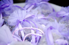 Violette pakketten met lavendel Royalty-vrije Stock Foto