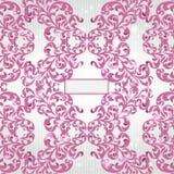 Violette patroon achtergrondmerkbanner Royalty-vrije Stock Afbeeldingen