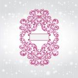 Violette patroonbanner als achtergrond Stock Afbeelding