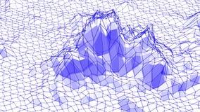 Violette of purpere lage poly het golven oppervlakte als collectieve achtergrond Het violette geometrische trillende milieu of pu royalty-vrije illustratie