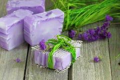 violette Seife Stockbilder