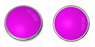 violette solide pourprée du bouton 3d illustration de vecteur