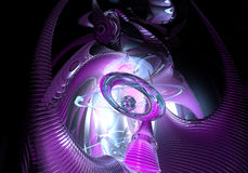 The violette space dream. Study of form and color, 3D rendered image produced with Bryce Stock Image