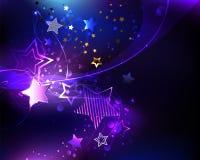 Violette ster op abstracte achtergrond stock illustratie