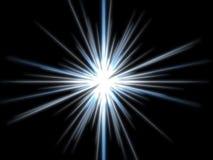 Violette ster op een zwarte achtergrond. Stock Fotografie