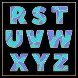 Violette stilisierte Schriftart des Emailmosaiks jewerly Stockfotografie