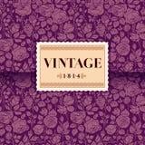 Violette uitstekende kaart Stock Fotografie