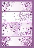 Violette uitstekende kaarten vector illustratie