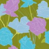 Violette und blaue Rosen Stockbild
