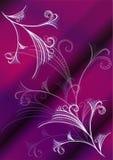 Violette vector bloemenachtergrond Stock Fotografie