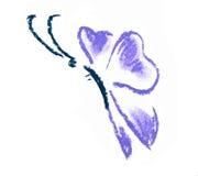 Violette vlinder eenvoudige illustratie Stock Fotografie