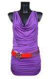 Violette vrouwelijke kleding Royalty-vrije Stock Foto's
