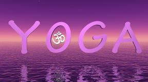 Violette yoga Stock Foto