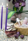 Violetter Badekurort Stockbild
