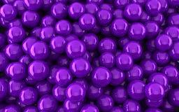Violetter Ballhintergrund (3d übertragen) Stockbilder