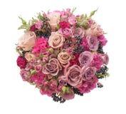 Violetter bunter lokalisierter Heiratsblumenstrauß Lizenzfreies Stockfoto
